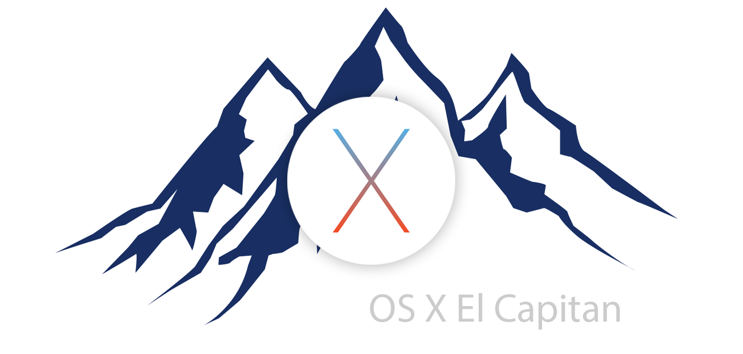 Illustration mit Logo MacOS El Capitan
