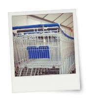 Instant print with a shopping trolley