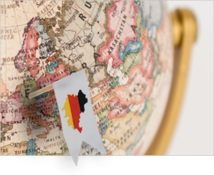 Globe with flag in Germany