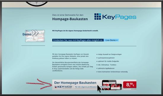 Einbindung auf Ihrer Homepage