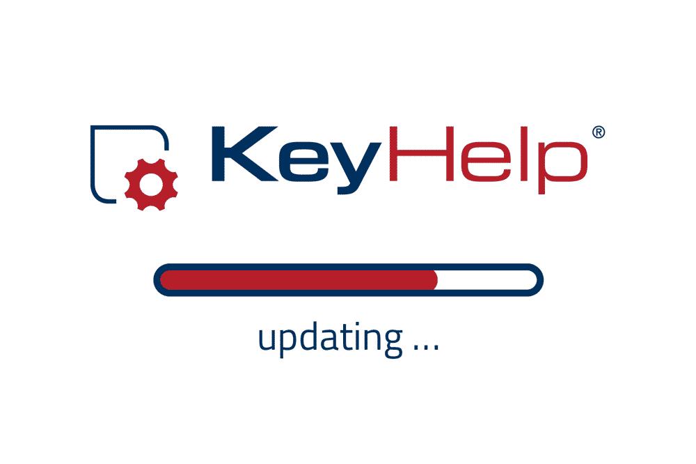 KeyHelp Aktualisierungbalken