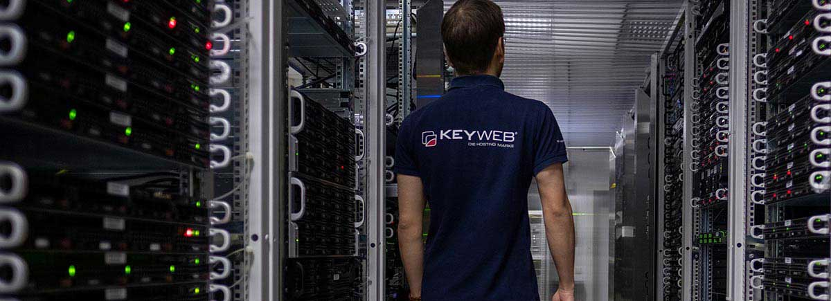 Keyweb AG employees in the data center